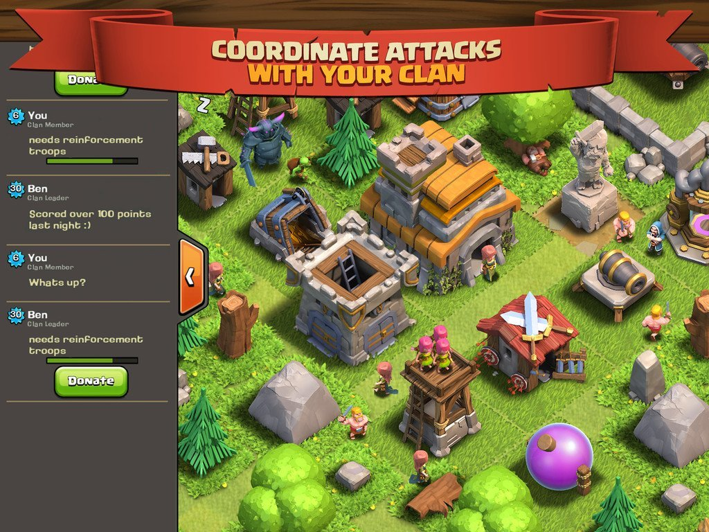 Clash of Clans iOS Clan Attacks