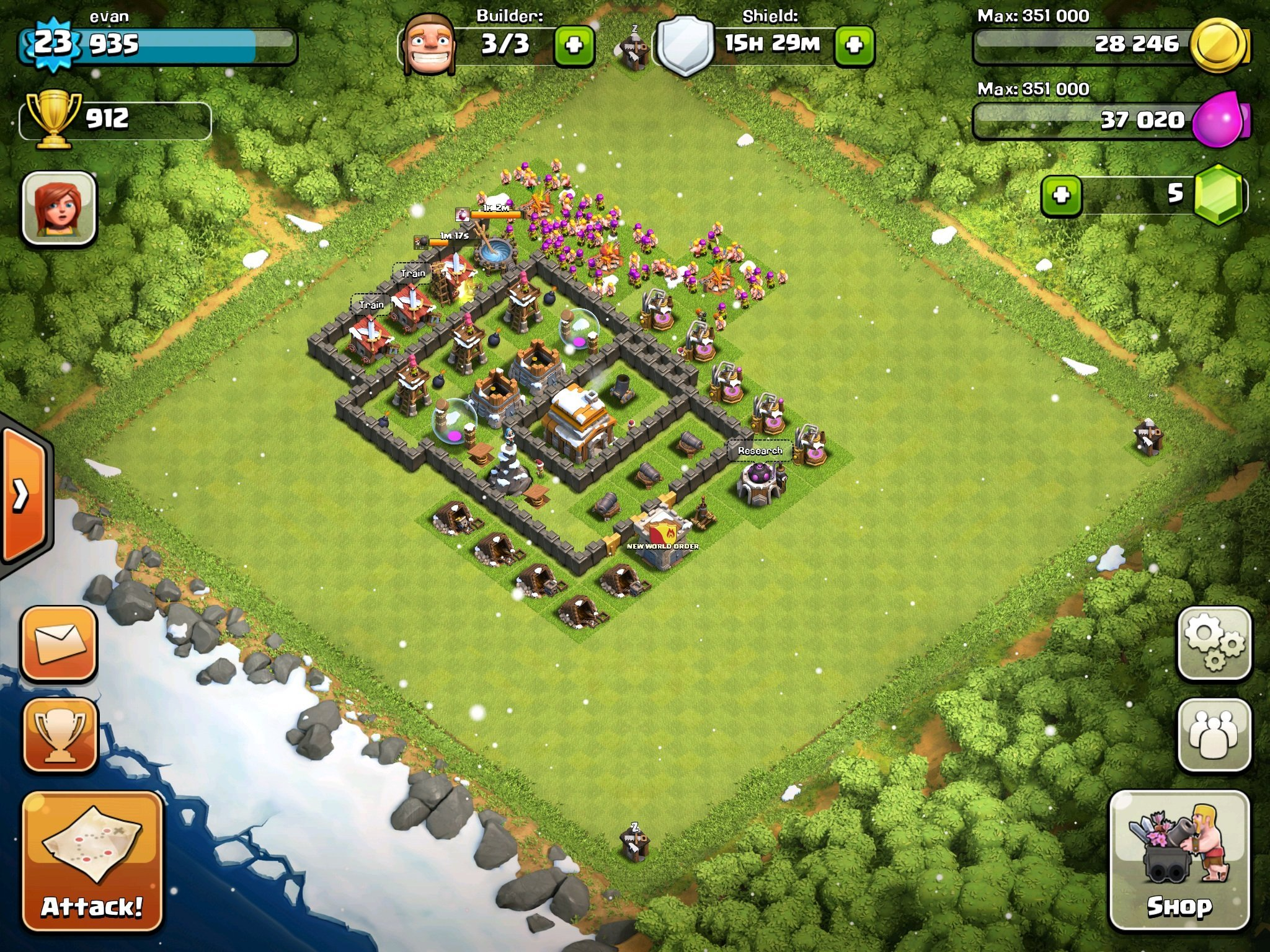 Pics Photos - Clash Of Clans Defense Layout Level 25