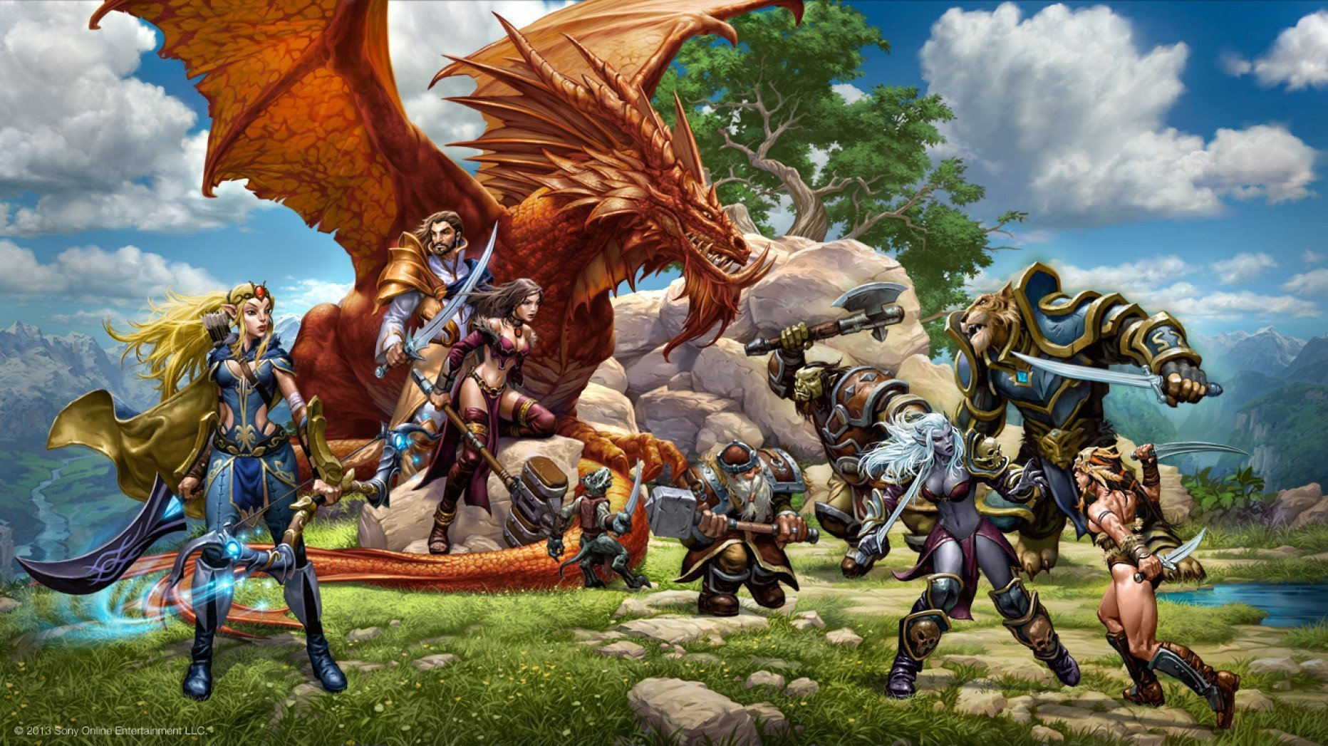 Everquest Next Wallpaper by Gabor Szikszai