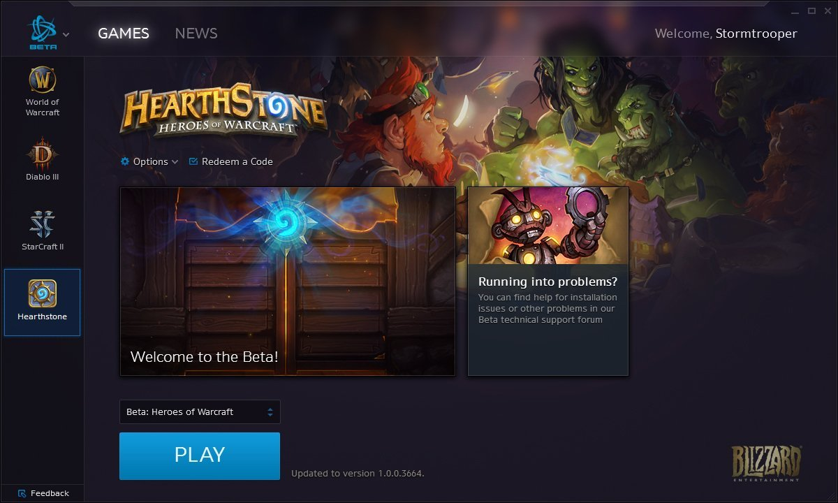 Battle.net Desktop App - HearthStone: Heroes of WarCraft