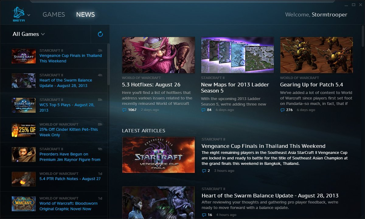 Battle.net Desktop App - News