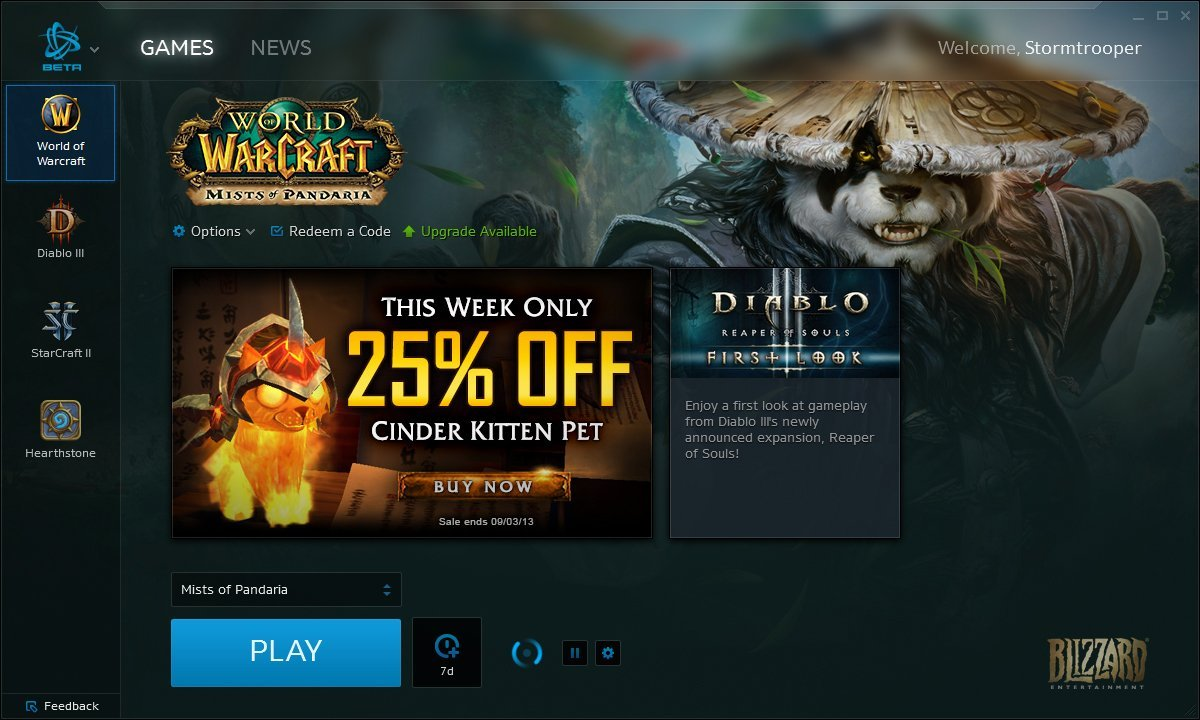 Battle.net Desktop App - World of WarCraft: Mists of Pandaria