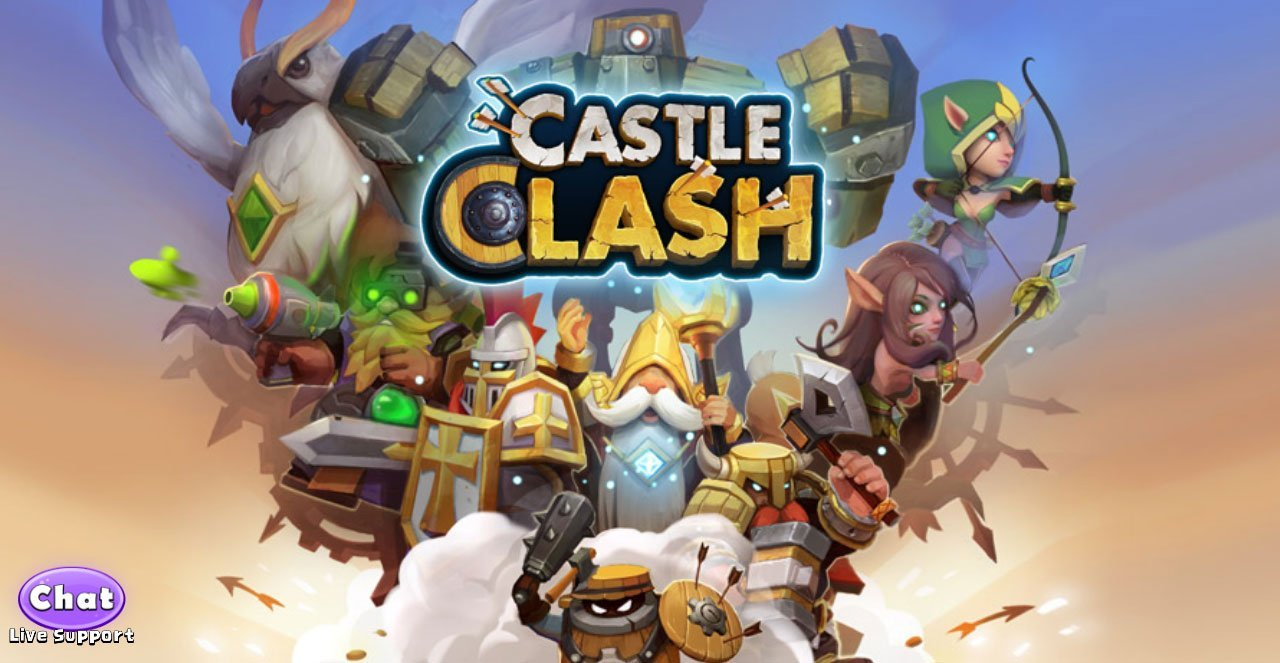 Castle Clash Title Screen Wallpaper