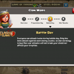 Clash of Clans - Clan Wars Update Title Screen