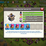 Clash of Clans - Clan Wars War Loot in Clan Castle
