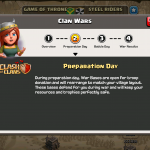 Clash of Clans - Clan Wars Preparation Day