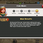 Clash of Clans - Clan Wars War Results